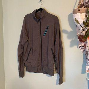Lululemon Charcoal Gray ZIP-up Alethic Jacket XL